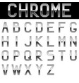 alphabet chrome letters vector image