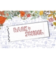 Back to School Supplies SketchyLieavespaper vector image