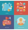 construction and building icons set vector image