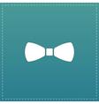 festive bow icon vector image