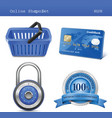 online store icon set vector image