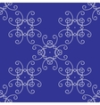 Seamless Damask Background Pattern on Blue vector image