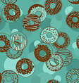 Seamless pattern of donuts vector image
