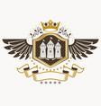 Vintage decorative heraldic emblem composed using vector image