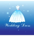 Beautiful wedding dress vector image