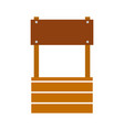 farm fount isolated icon vector image