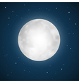 Full Moon with Stars vector image vector image