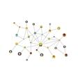 social network flat isolatad on white vector image