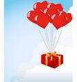 heart shape balloons vector image vector image