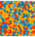 Colorful crosses pattern vector image