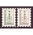 Retro postage stamps vector image