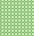 Abstract geometric circles seamless pattern green vector image vector image