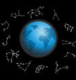 constellations around the globe vector image
