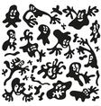 microbesmonsters - doodles set vector image