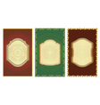 Set of vintage gold-framed labels vector image