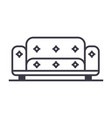 sofa line icon sign on vector image