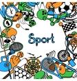 Sport Sketch Frame vector image