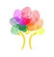 Tree Made Of Fingerprints vector image