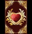 valentine card heart vector image