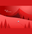 winter mountain landscape scenery walking santa vector image