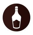 bottle cream whiskey liqueur icon shadow vector image