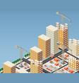 urban construction vector image vector image