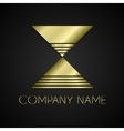 abstract company name logo vector image