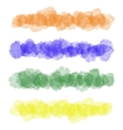 Colorful watercolor brush strokes vector image