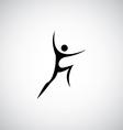 abstract man symbol logo vector image