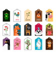 animal tags frames or label vector image