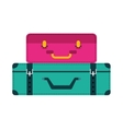 bag suitcase gaggage icon vector image