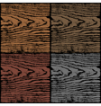 Dark wood texture background vector image
