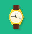 Icon of wrist watch Symbol of hand clock of vector image