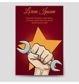Labor day brochure template vector image