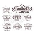 monochrome football badges vector image