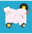 Musical notepad vector image
