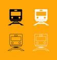 train black and white set icon vector image