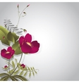 Wild flowers on gray vector image