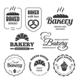 Bakery labels 2 vector image