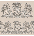 floral pattern seamless border vector image vector image