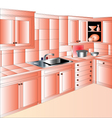 Kitchen Unit vector image vector image