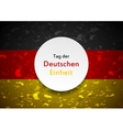 Day of German unity abstract design Tag der vector image