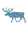 deer northern color silhouette animal vector image