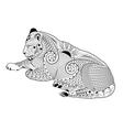 lioness zentangle vector image