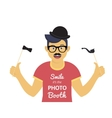 Photo booth hand written lettering design in vector image