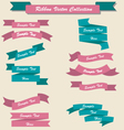 Ribbon set collection pink and blue vector image