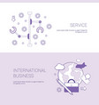 set of service and international business banners vector image