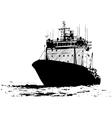 Ship sketch vector image
