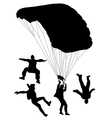 Skydiving Silhouette vector image