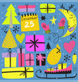 winter holiday design doodle clipart vector image